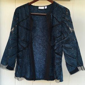 💠Gorgeous Open Blue Cardigan CHICO'S 2 (12) EUC